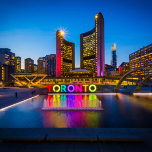 View,Of,Nathan,Phillips,Square,And,Toronto,Sign,In,Downtown